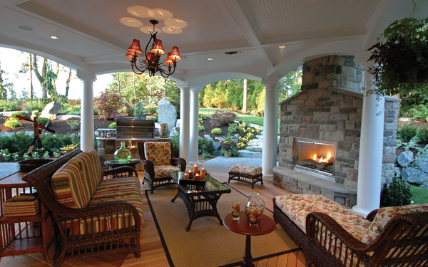 Outdoor Living Trends - House Plans and More on Covered Outdoor Living Area id=88208