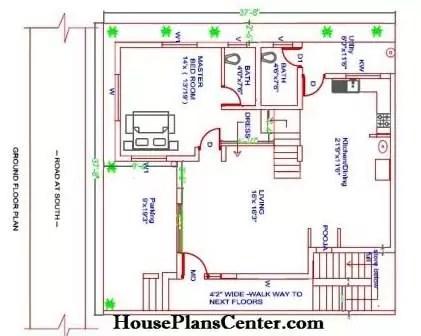 40x40 Ground floor plan