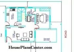 25x35 house plans Duplex Ground floor
