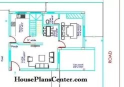25x35 house plans Duplex Ground floor
