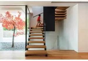 House Plans center internal staircase