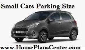 small cars parking size required