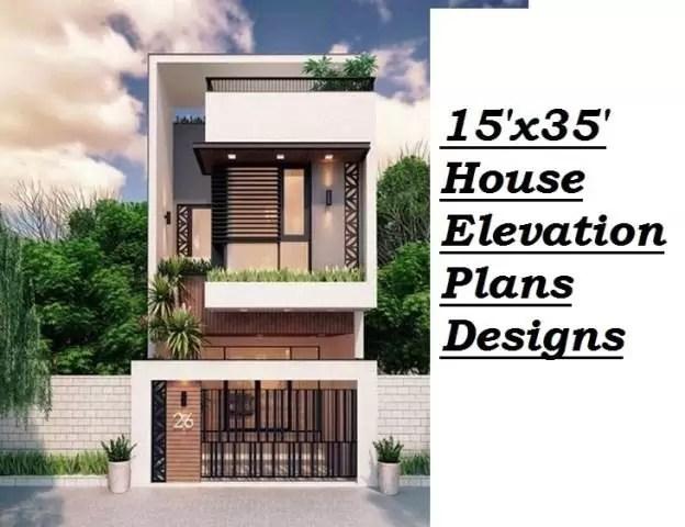 15x35 house elevation plans designs