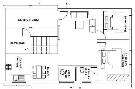 25x35 house plan 1st floor 216