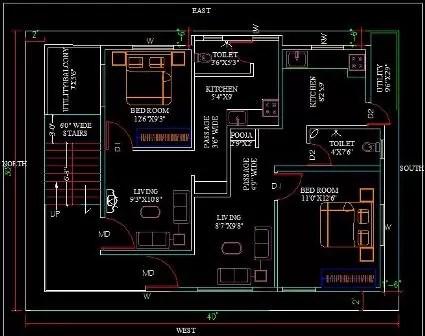 30x40 house plan 1st floor 212