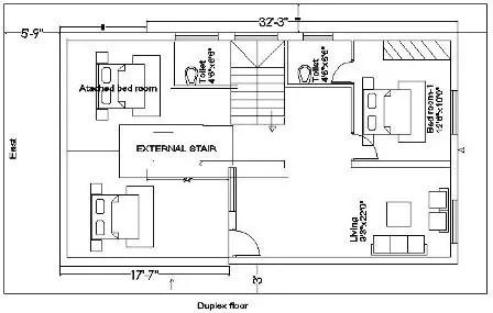 30x50 house plan duplex floor 217