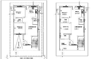 house plan 25x40 duplex house