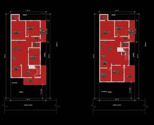 30x50 house plans 3BHK PLAN GROUND & 1ST FLOOR PLAN