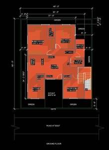 Ground Floor plan 40X50 dehradun