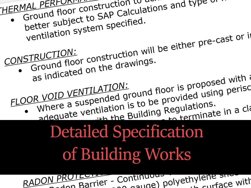 building specifications template