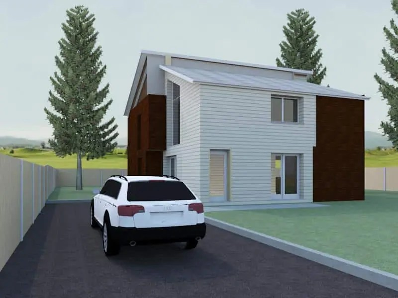 Modern detached house plan the burghill houseplansdirect for Modern detached house design