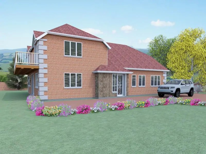 House plan with balcony the uplands for House plans designs direct