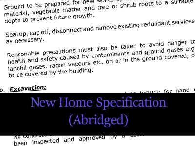 new home specification