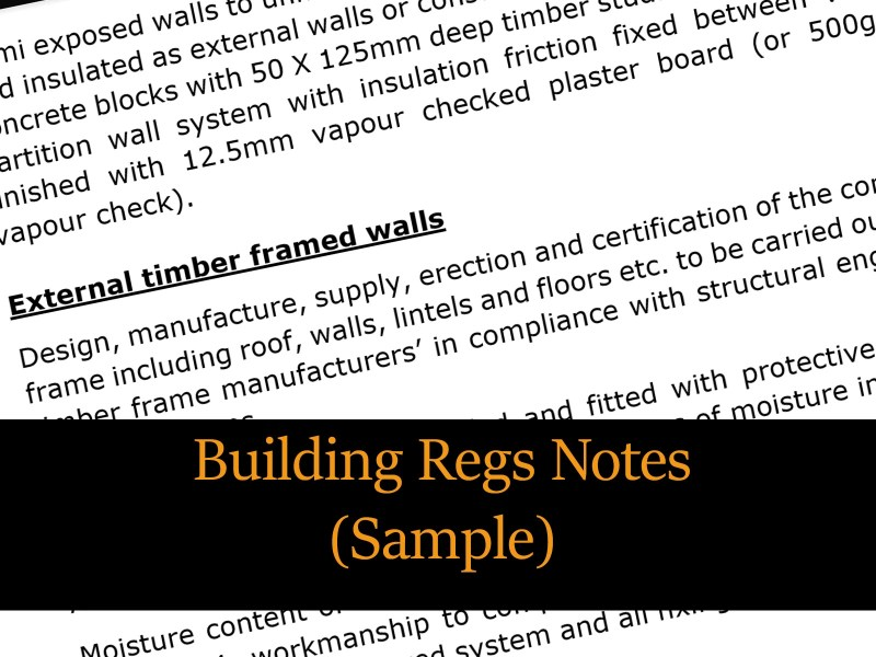 BUILDING REGULATIONS ACCOMPANYING NOTES