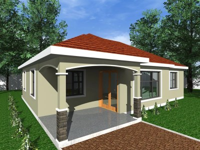 three bedroom minimalist bungalow design
