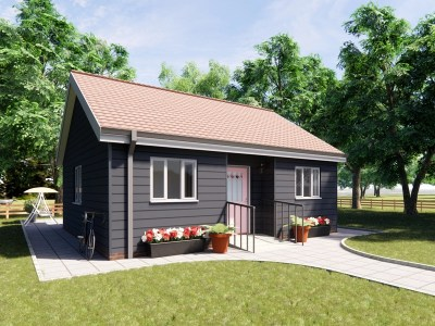 one bedroom bungalow design