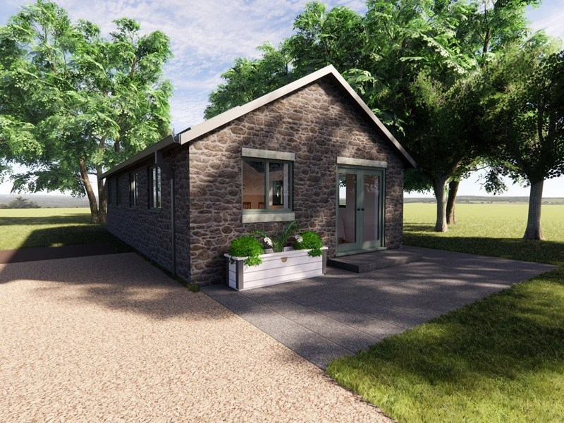 contemporary one bedroom bungalow design