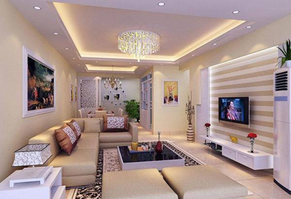 Подвесные потолки: 80 фото, дизайн потолков в комнатах ...