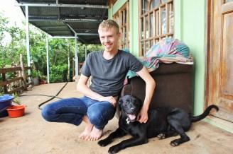 Luke and Hatchi the dog