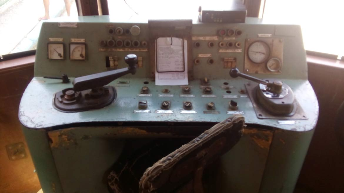 The Hershey Train control panel