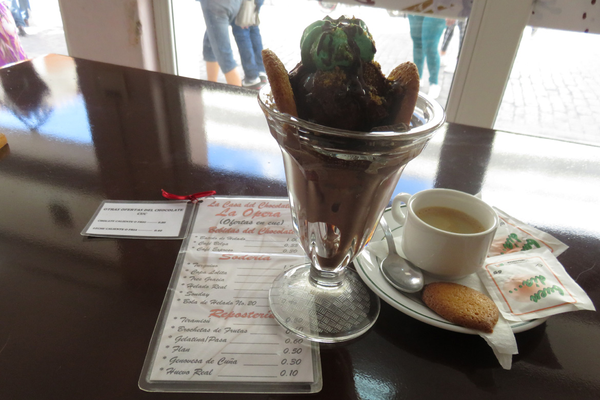 Casa del Chocolate, Cuban Ice cream sundae
