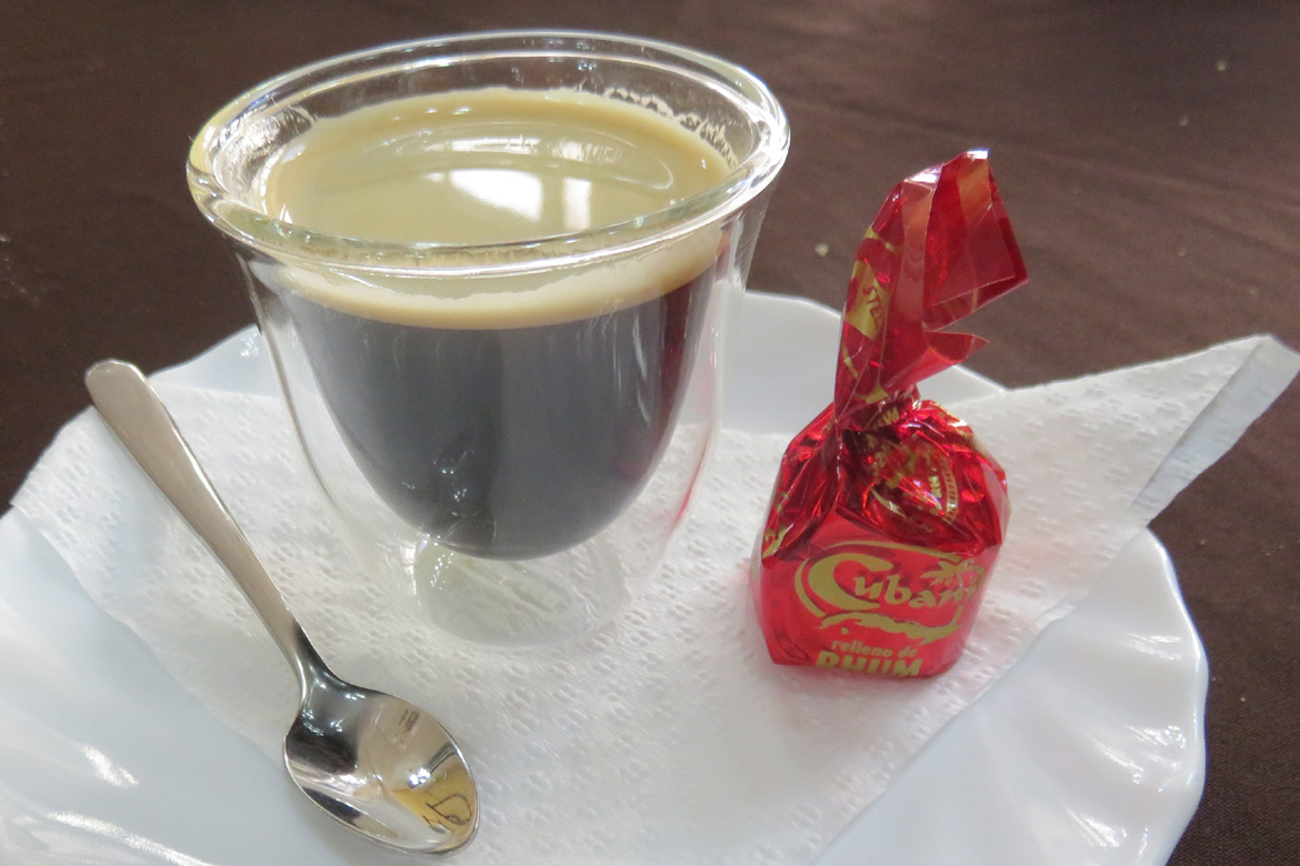 Coffee, rum and chocolates