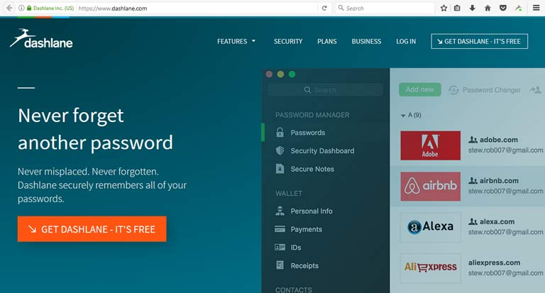 Dashlane for protecting your passwords