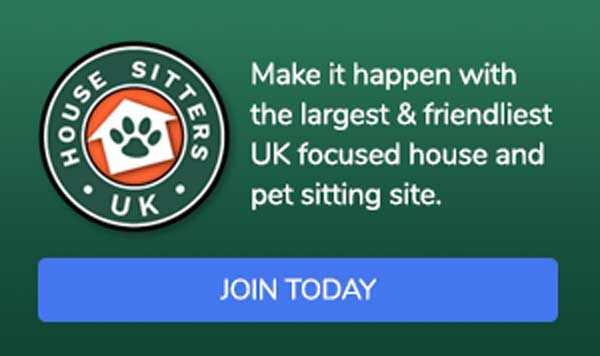 Visit House Sitters UK for a 15% discount code HSMAG15