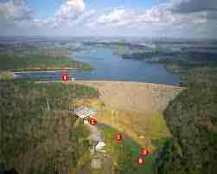 Smith Lake Dam for Ryan Creek and Sipsey River