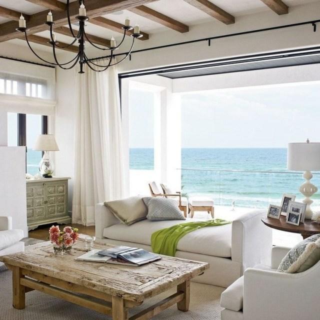 35+ Modern Rustic Coastal Living Room Decorating Ideas