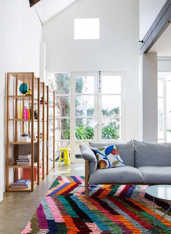 10 Living Room Designs With Colorful Rug   House Design ... on Colourful Living Room  id=37583
