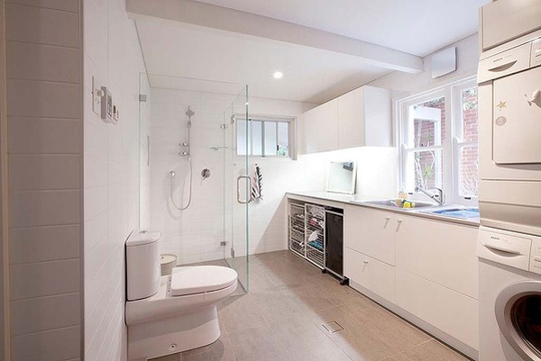 20 small laundry with bathroom combinations house design on combined bathroom laundry floor plans id=63860