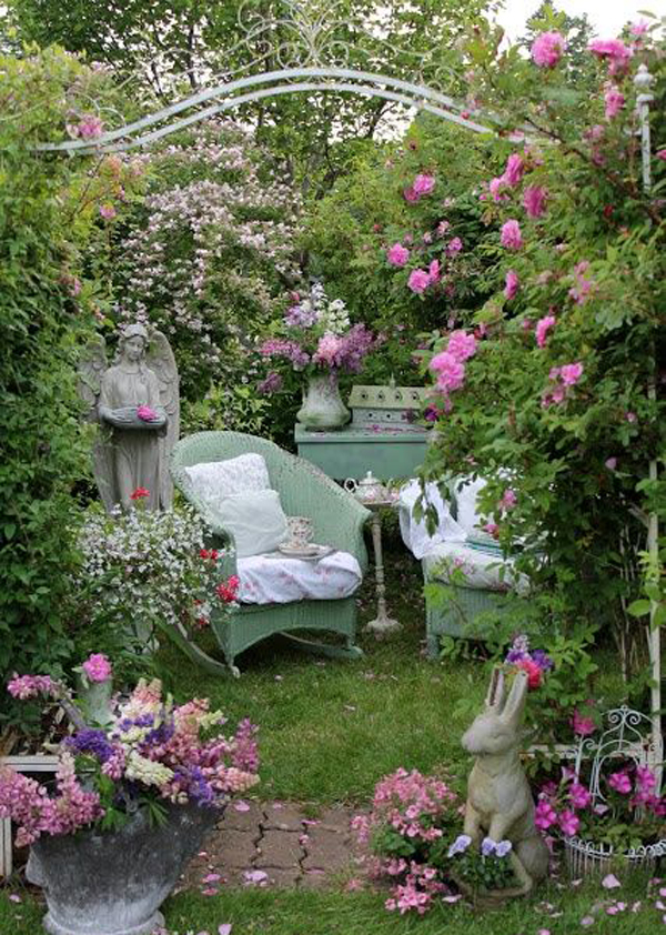17 Shabby Chic Garden For Romantic Feel | House Design And ... on Chic Patio Ideas id=46619