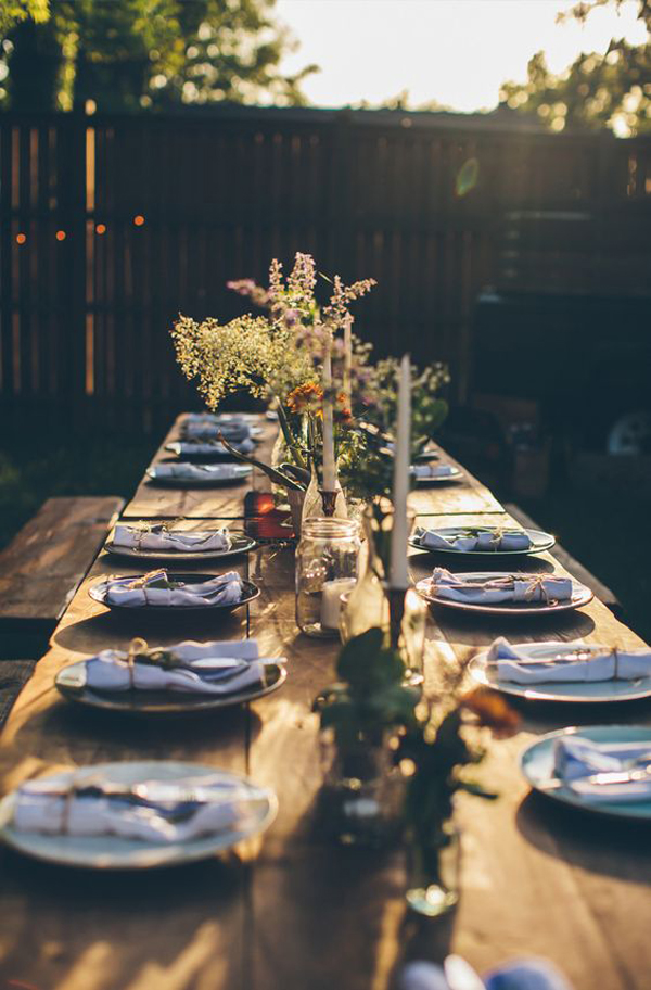 20 rustic table setting ideas to summer