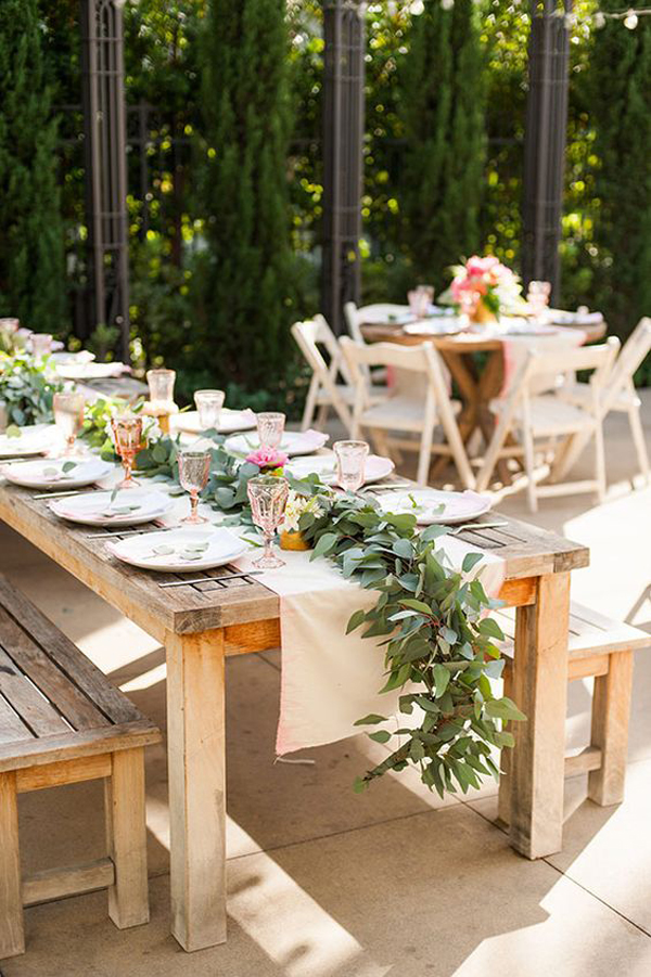 20 Rustic Table Setting Ideas to Summer Celebrate | House ... on Backyard Table Decor id=22510