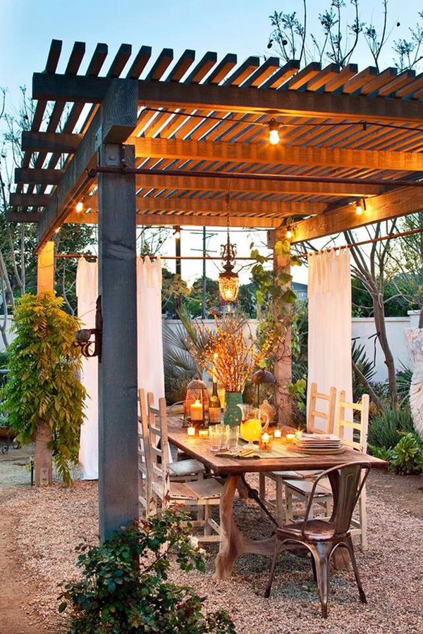 20 Cozy and Romantic Pergola Decor Ideas | House Design ... on Romantic Backyard Ideas id=71484
