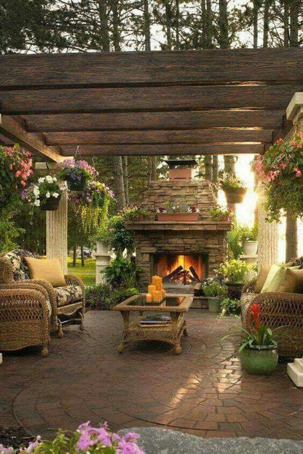 20 Cozy and Romantic Pergola Decor Ideas | House Design ... on Cozy Patio Ideas id=89059