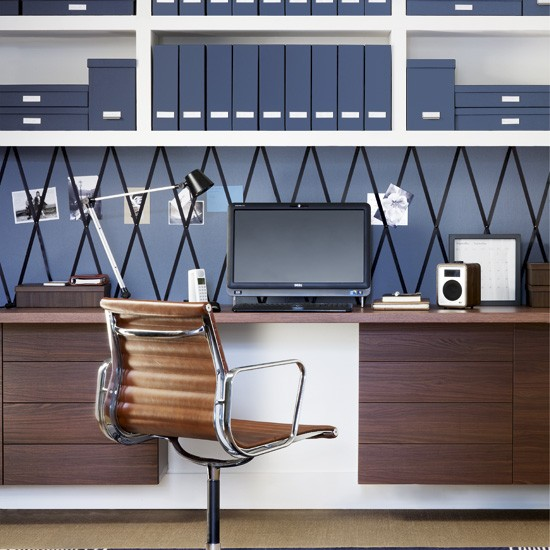 Streamline a smart den | 5 clever ideas for home offices | home office ideas | decorating inspiration | housetohome