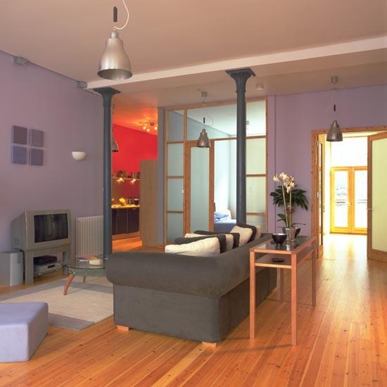 Colourful warehouse-style living room | Colourful living rooms | living room | PHOTO GALLERY | 25 Beautiful Homes | Housetohome