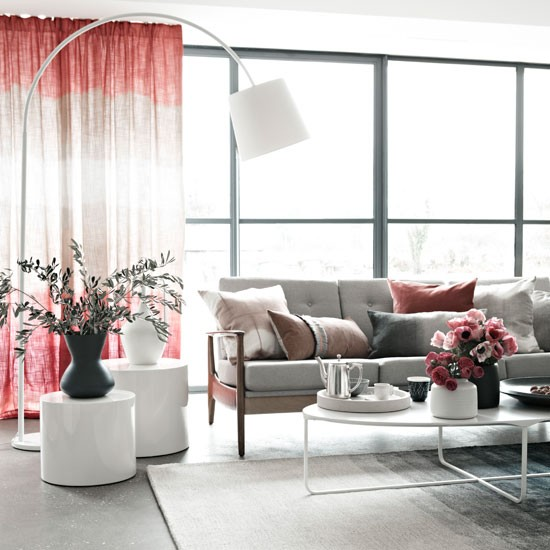 Relaxing pink living room | Modern decorating ideas | Homes & Gardens