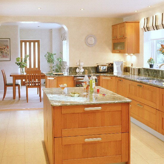 Modern Cherry Wood Kitchen Design Decorating Ideas