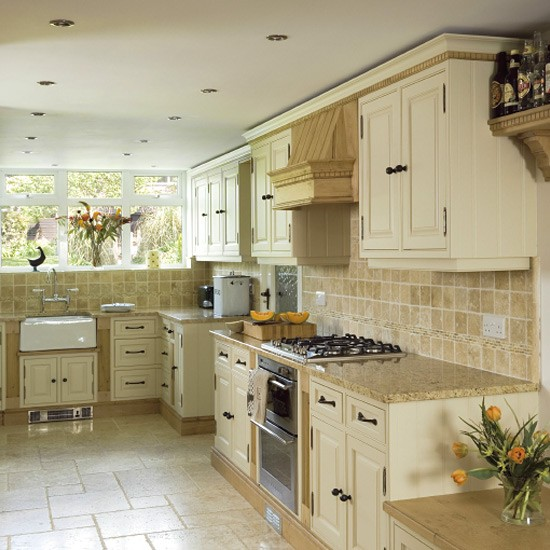 Traditional painted oak kitchen   Kitchen design ... on Traditional Kitchen Wall Decor  id=64966