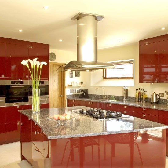 Stunning Red Kitchen Design Decorating Ideas Housetohome