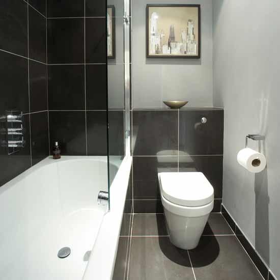 Small monochrome bathroom | Small bathroom design ideas ... on Small Bathroom Ideas Uk id=96239
