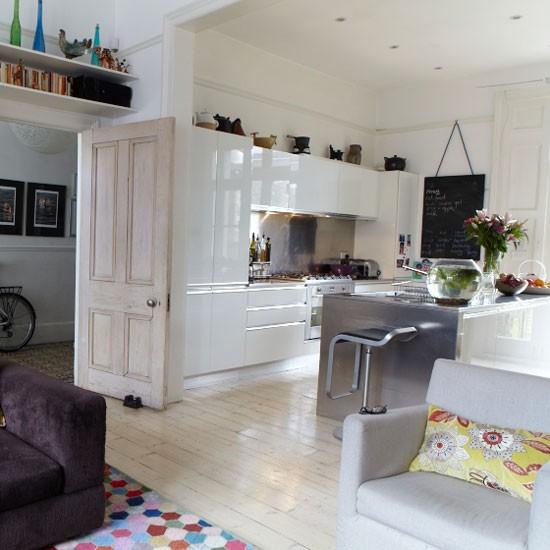 White Kitchen Open Plan