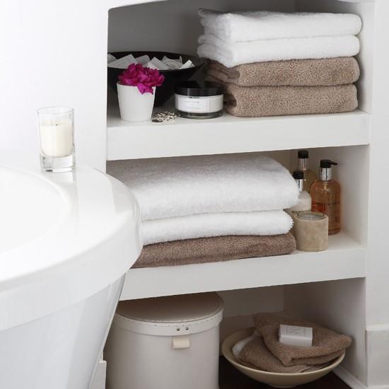 bath storage shelves 2017 - Grasscloth Wallpaper on Small Area Bathroom Ideas  id=93548