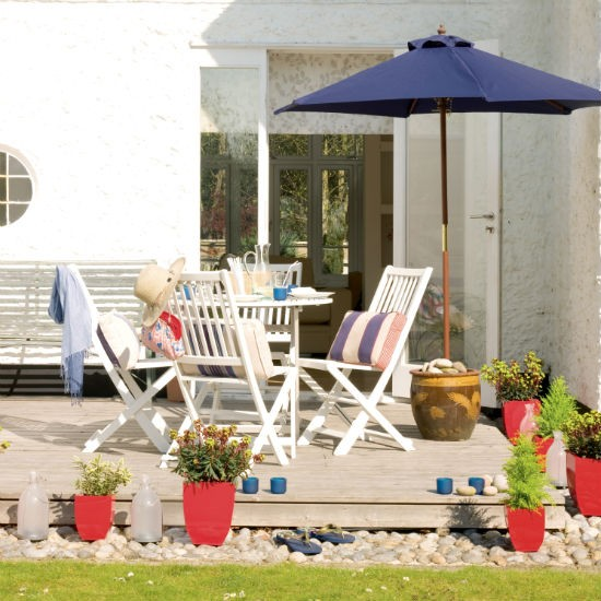 Family-friendly nautical-style patio | Patio ideas ... on Nautical Patio Ideas  id=47460