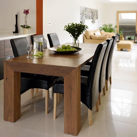 Small Dark Wood Kitchen Table