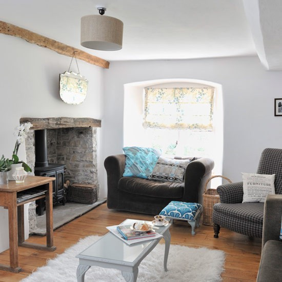 Original living room features   Modern country cottage ...