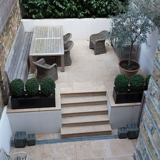 Limestone terrace garden | Garden decorating ideas ... on Terraced House Backyard Ideas id=29940